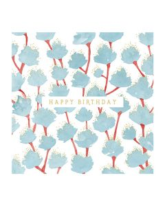 The Art File Natural Phenomenon Birthday Card Blue Leaves