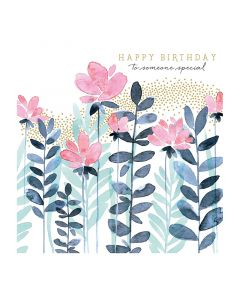The Art File Natural Phenomenon Birthday Card Pink Flowers
