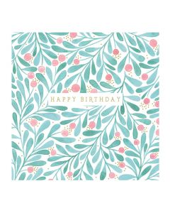 The Art File Natural Phenomenon Birthday Card Leaves & Berries