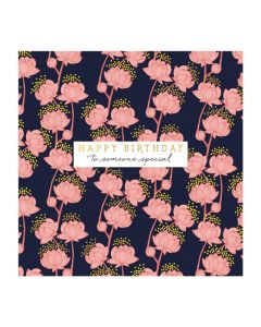 The Art File Natural Phenomenon Birthday Card Pink Flower
