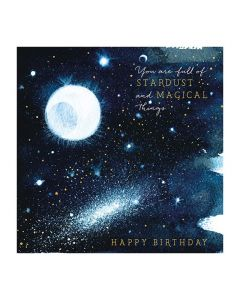 The Art File Natural Phenomenon Birthday Card Full of Stardust and Magical Things