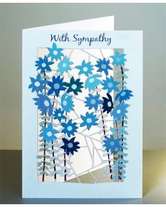 Forever Cards Sympathy Card With Sympathy Small Blue Flowers