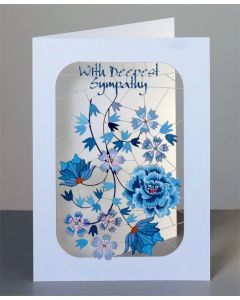 Forever Cards Sympathy Card With Deepest Sympathy Blue Flowers