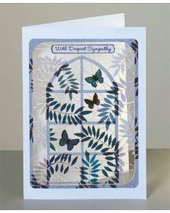 Forever Cards Sympathy Card With Deepest Sympathy Butterflies