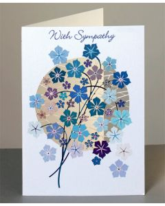 Forever Cards Sympathy Card  With Sympathy Blue Flowers