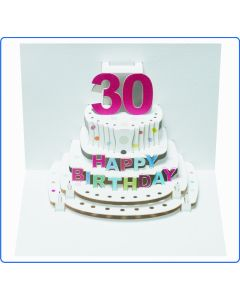Forever Cards Birthday Card 30th Birthday Pop Up