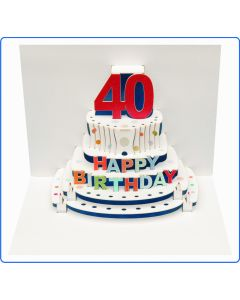 Forever Cards Birthday Card 40th Birthday Pop Up