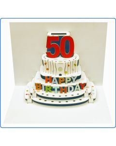 Forever Cards Birthday Card 50th Birthday Pop Up