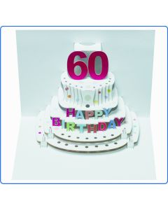 Forever Cards Birthday Card 60th Birthday Pop Up