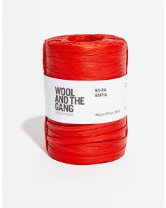 Wool and The Gang Ra Ra Raffia Bardot Red