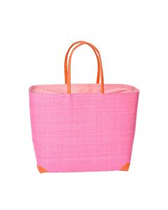 Madaraff Raffia Basket Extra Large Shopper Hot Pink  #RB119HP