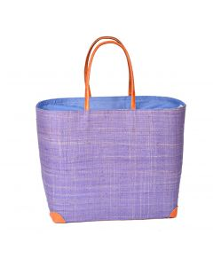 Madaraff Raffia Basket Extra Large Shopper Lilac  #RB119L