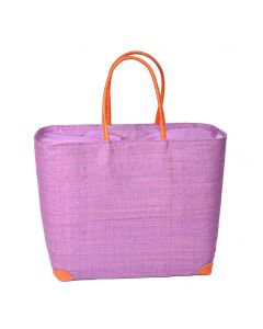 Madaraff Raffia Basket Extra Large Shopper Orchid  #RB119O