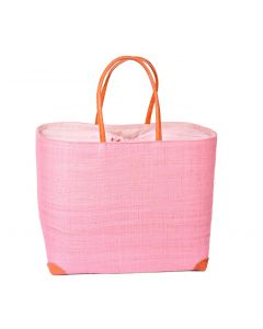 Madaraff Raffia Basket Extra Large Shopper Rose Pink #RB119RP