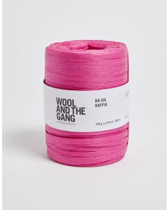 Wool and The Gang Ra Ra Raffia Hot Pink