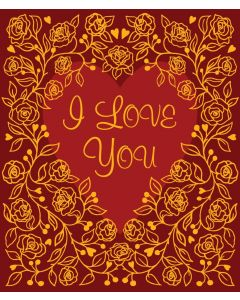 Bex Parkin Valentine's Day Card  Floral Heart I Love You
