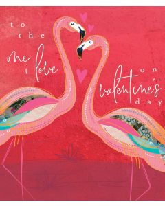 Tiger Lily Valentine's Day Card To the One I Love Flamingo