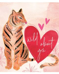Tiger Lily Valentine's Day Card Wild About You Tiger