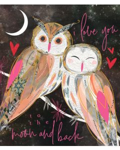 Tiger Lily Valentine's Day Card Love Owls