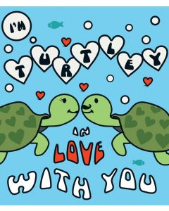 Candy Floss Valentine's Day Card  Turtley In Love with You