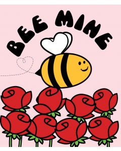 Candy Floss Valentine's Day Card  Bee Mine
