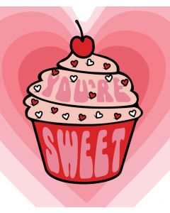 Candy Floss Valentine's Day Card  You're Sweet Cupcake