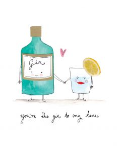 Portfolio Valentine's Day Card  You're the Gin to my Tonic