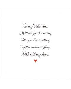 T'Too Valentine's Day Card Valentine Together We are Everything