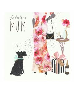 Sara Miller London Mother's Day Card Mum and Dog, Fabulous Mum