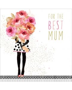 Sara Miller London Mother's Day Card Best Mum Bouquet