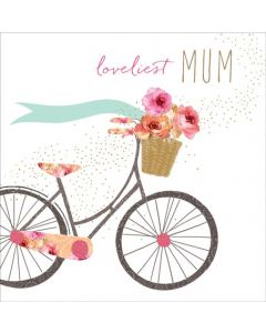 Sara Miller London Mother's Day Card Loveliest Mum, Bike