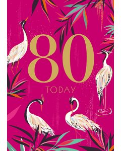 Sara Miller London 80th Birthday Card - Herons