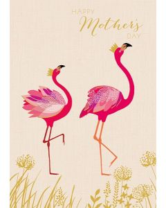Sara Miller London Mother's Day  Card Flamingoes