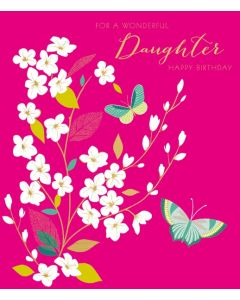 Sara Miller London Birthday Card   For a Wonderful Daughter
