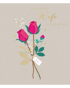Sara Miller London Birthday Card  To My Darling Wife
