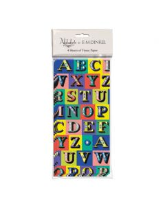 Museums and Galleries E.M. Dinkel Tissue Paper Alphabets Kingfisher