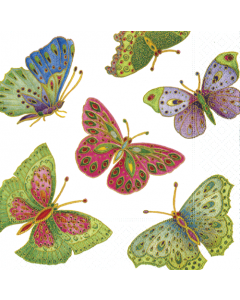 Butterfly Jewelled - 4 Napkins for Decoupage