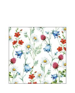 Ambiente Paper Napkins Pack of 20 3-ply Cocktail Size Mixed Wild Flower