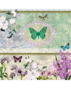 Butterfly Medaillon - 4 Napkins for Decoupage