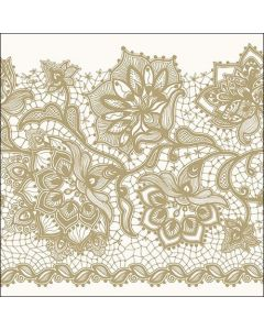 Paper Napkins for Decoupage, 4 Single Lunch Size Paper Napkins, Gloria Gold