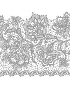 Paper Napkins for Decoupage, 4 Single Lunch Size Paper Napkins, Gloria Silver