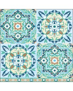 Ambiente Paper Napkins 3-ply Lunch Tiles Green