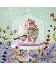 Cupcake in Glass - 4 Napkins for Decoupage