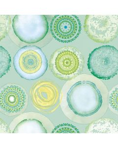 Ambiente Paper Napkins 3-ply Lunch Watercolour Circles Green