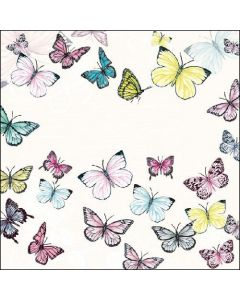 Butterfly - White - 4 Napkins for Decoupage
