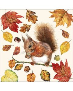 Easting Squirrel - 4 Napkins for Decoupage