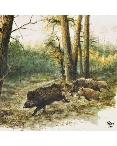 Ambiente Paper Napkins 3-ply Lunch Wild Boars In The Woods