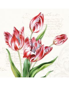 Classic Tulips - 4 Napkins for Decoupage
