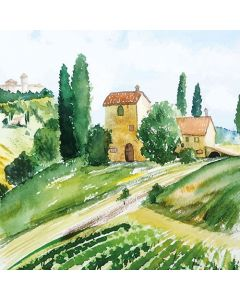 Ambiente Paper Napkins 3-ply Lunch Tuscany Watercolour
