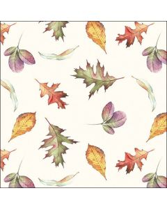 Paper Napkins for Decoupage, 4 Single Lunch Size Paper Napkins, Falling Leaves